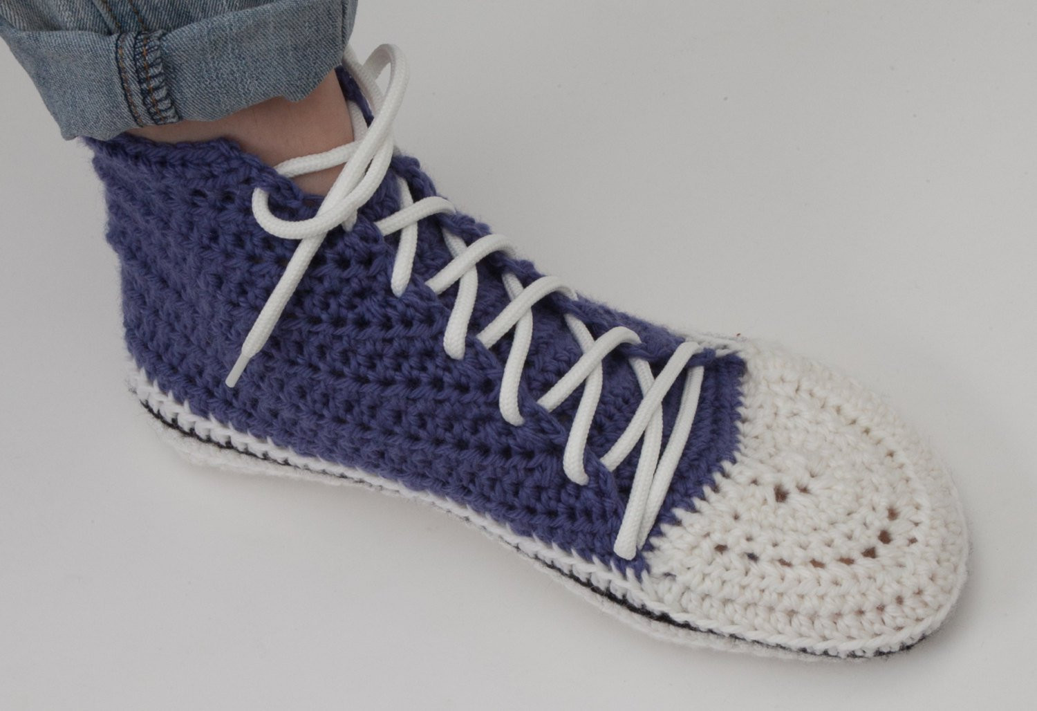 Crochet Sneakers Unique High Rise Sneakers Slippers Crochet Pattern Women S Sizes Of Gorgeous 50 Pics Crochet Sneakers
