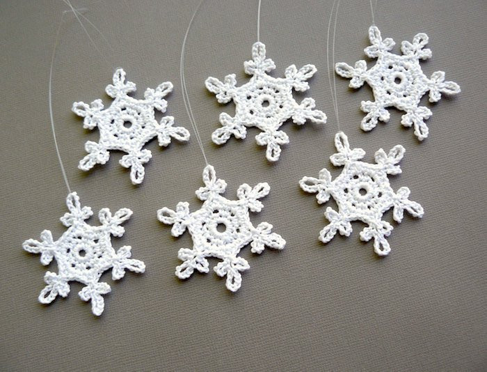 Crochet Snowflake Best Of 6 Small Crochet Snowflakes Snowflake B54 In White Of Brilliant 50 Models Crochet Snowflake