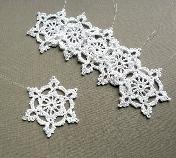 Crochet Snowflake Best Of Crocheted Snowflake ornaments Of Brilliant 50 Models Crochet Snowflake