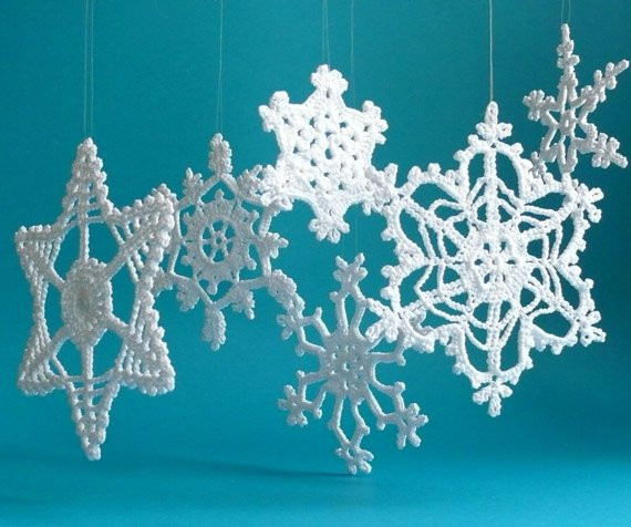 Crochet Snowflake ornaments Lovely Large Crochet Snowflake ornaments White Crochet Snowflakes Of Awesome 49 Photos Crochet Snowflake ornaments