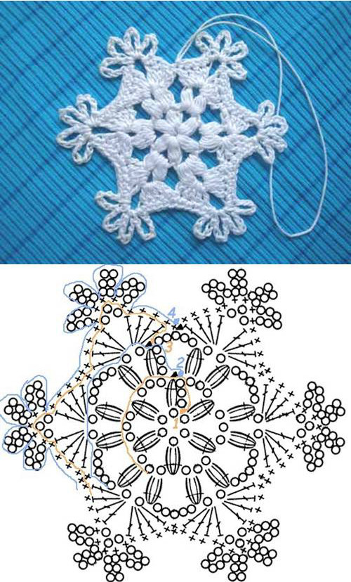 Crochet Snowflake Pattern Lovely Wonderful Diy Crochet Snowflakes with Pattern Of Wonderful 50 Photos Crochet Snowflake Pattern