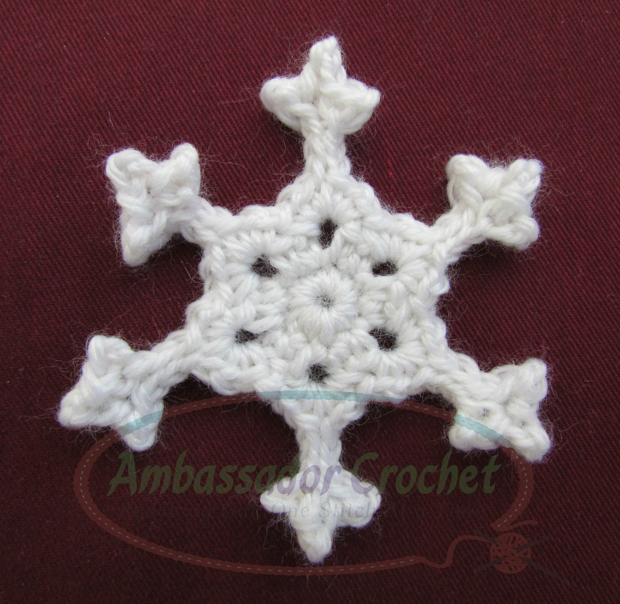 Crochet Snowflake Pattern New Crocheted Snowflake Pattern Ambassador Crochet Of Wonderful 50 Photos Crochet Snowflake Pattern