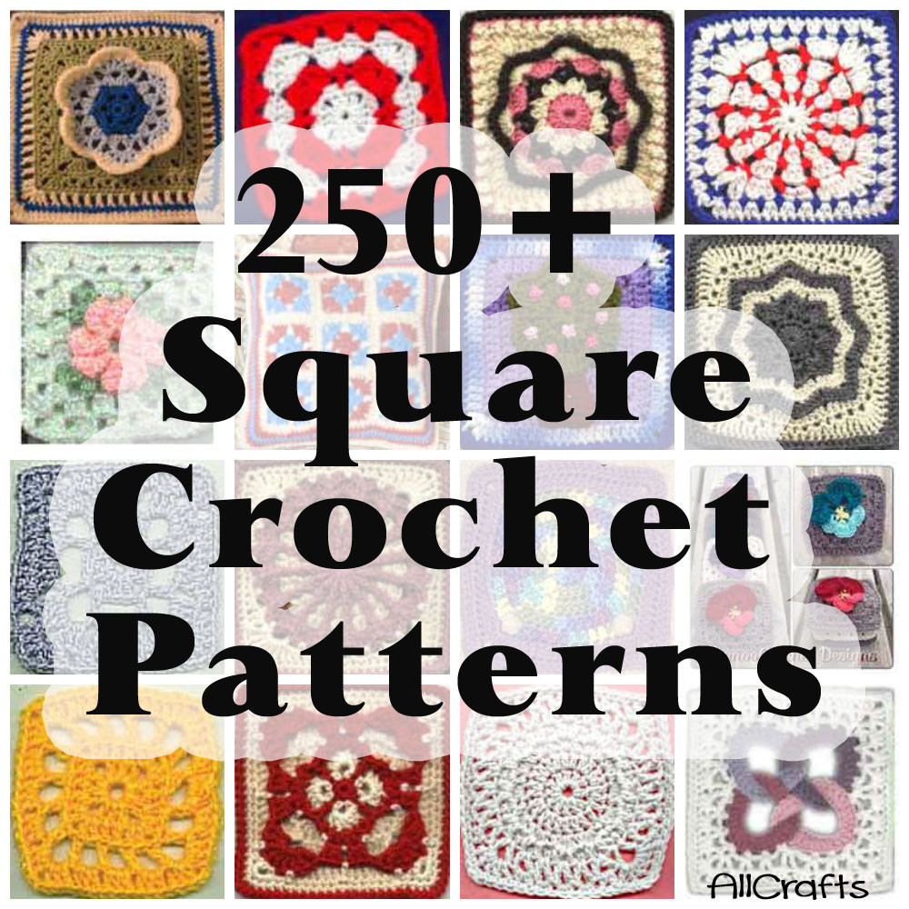 250 Free Crochet Square Patterns – AllCrafts Free Crafts