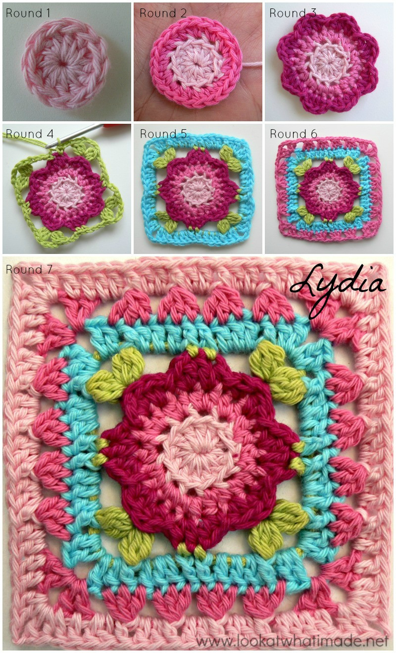 "Crochet Square Patterns New Jack and Lydia 4"" Crochet Squares ⋆ Look at What I Made Of Marvelous 43 Photos Crochet Square Patterns"