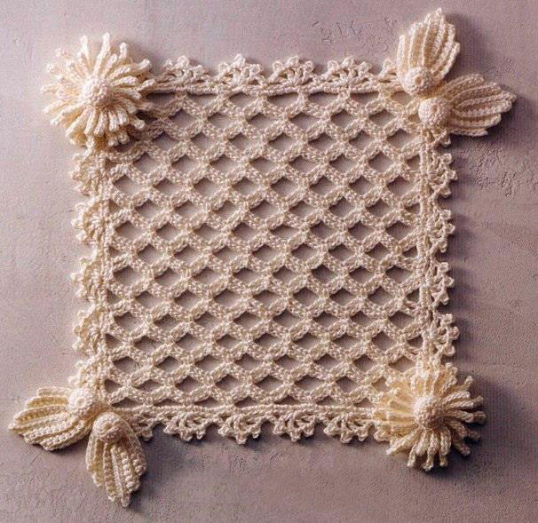 Crochet Squares Inspirational Lace Square with Embellishments ⋆ Crochet Kingdom Of Charming 43 Ideas Crochet Squares