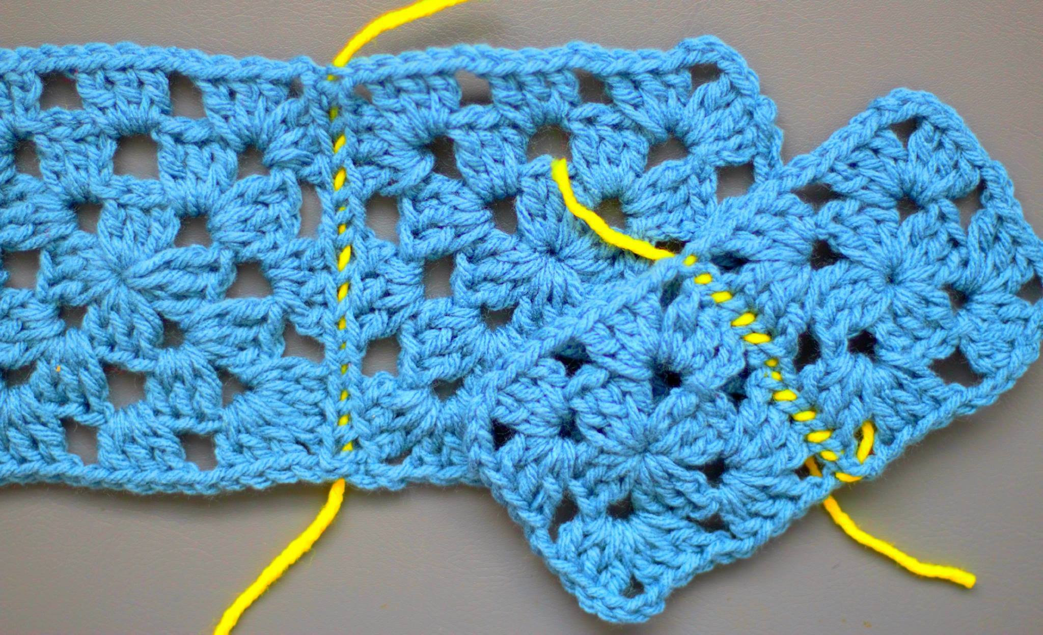 Crochet Squares Lovely How to Sew Crochet Granny Squares to Her Easy Peasy Of Charming 43 Ideas Crochet Squares