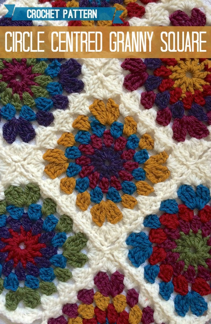 Vicki Brown Designs Circle Centred Crochet Granny Square