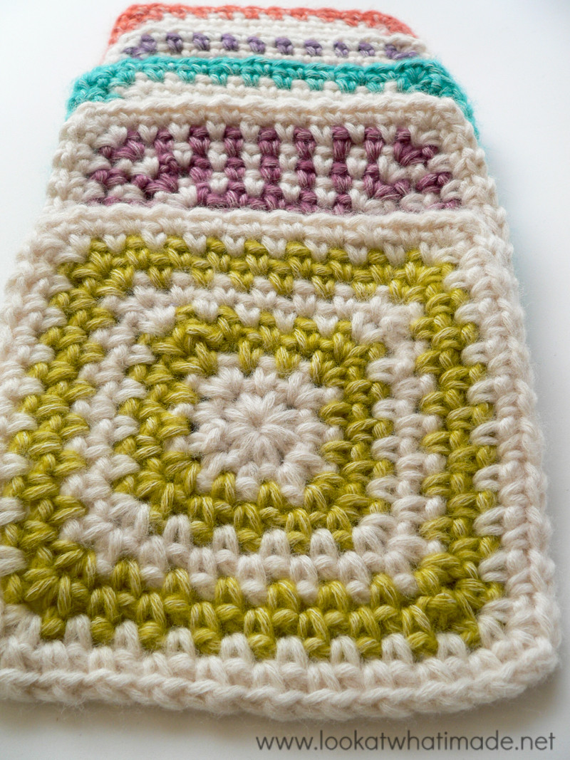 Regular Crochet Linen Stitch Square ⋆ Look At What I Made