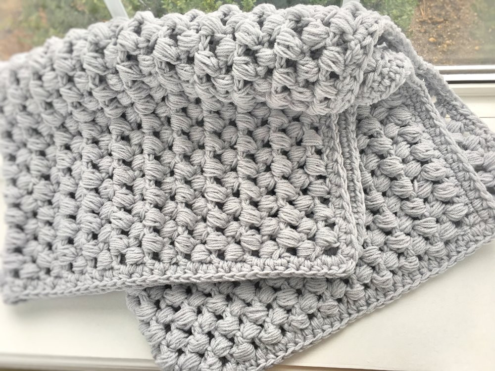 Crochet Stitches for Baby Blankets Elegant Giant Puff Stitch Baby Blanket — Ally S Woolery Of Amazing 45 Pics Crochet Stitches for Baby Blankets