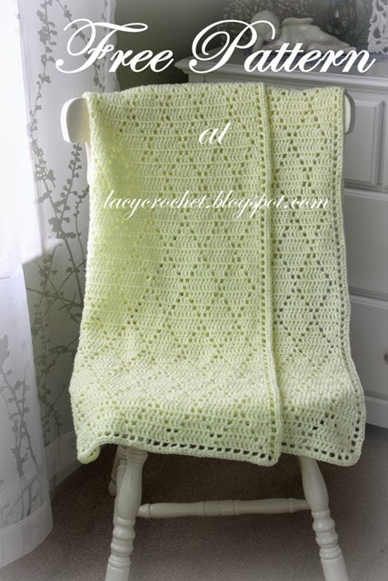 Crochet Stitches for Baby Blankets New Lacy Crochet Diamond Stitch Baby Blanket Free Pattern Of Amazing 45 Pics Crochet Stitches for Baby Blankets