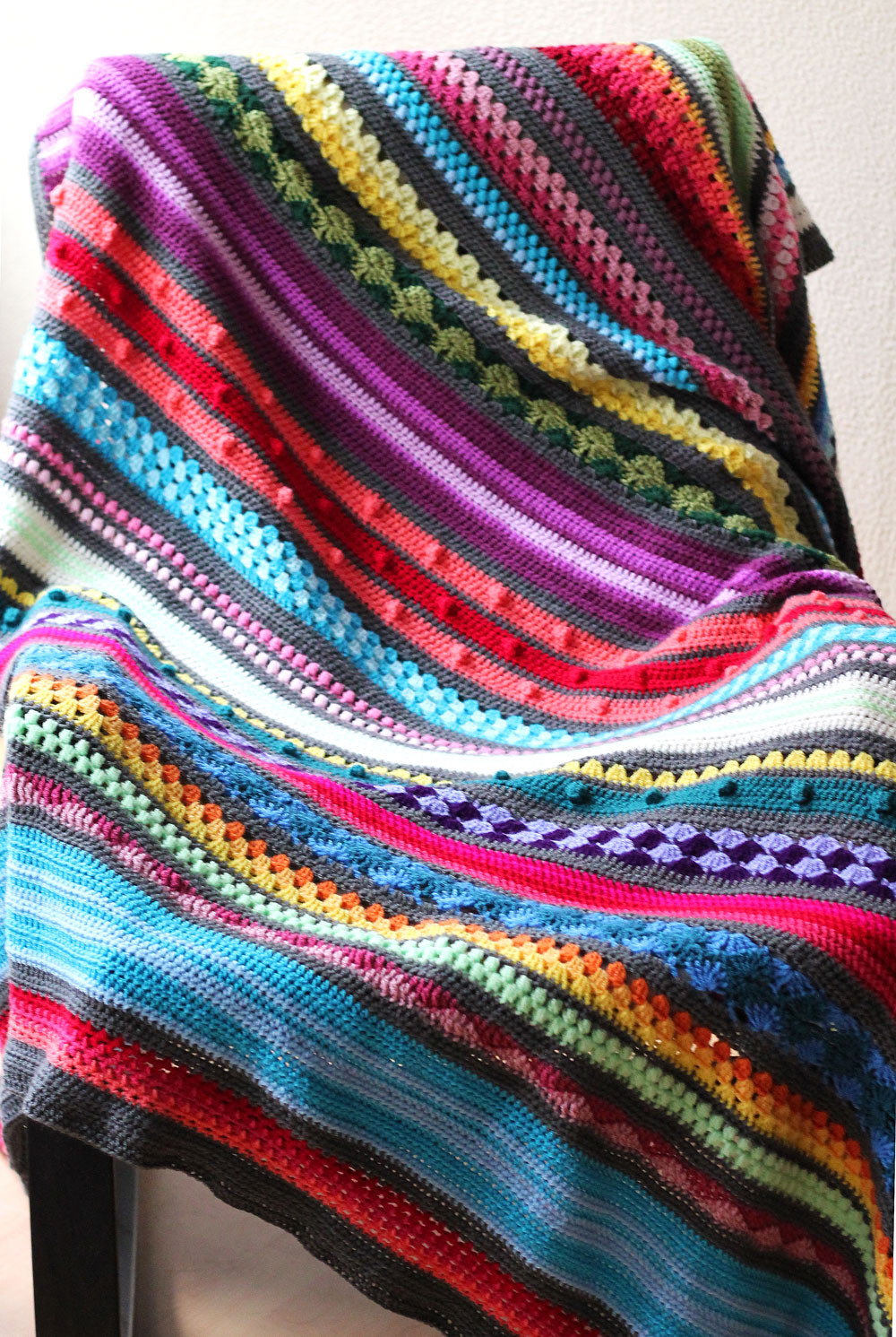 Crochet Stitches for Blankets Awesome Free Crochet Pattern Rainbow Sampler Blanket Of New 42 Images Crochet Stitches for Blankets