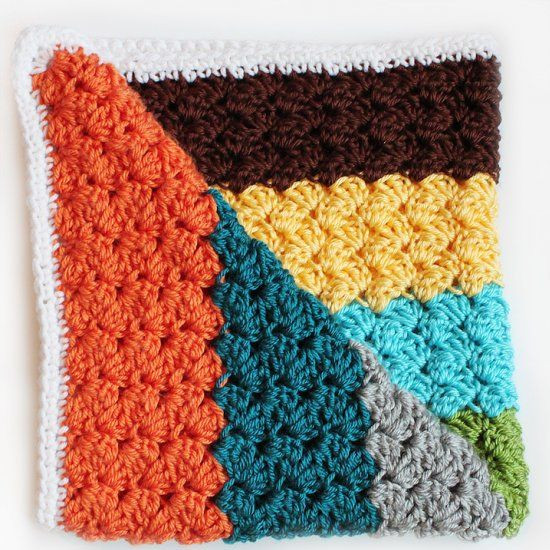 Crochet Stitches for Blankets Best Of Free Pattern for This Modern Striped Crochet Blanket Using Of New 42 Images Crochet Stitches for Blankets