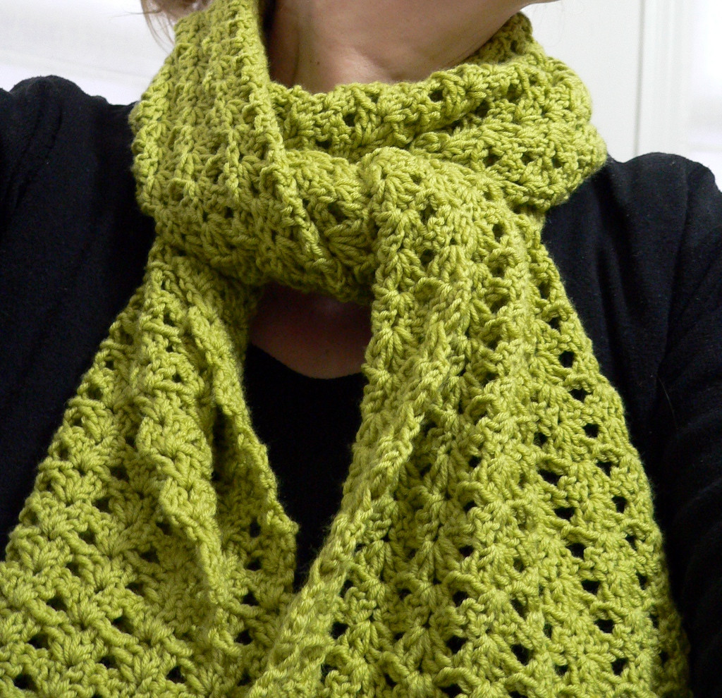 free crochet scarf patterns bulky yarn