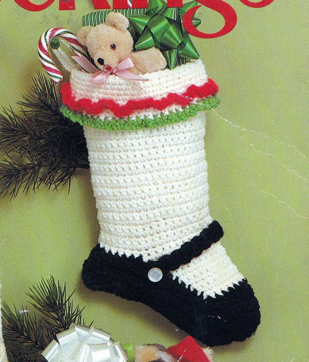 Crochet Stocking Beautiful Crochet Christmas Stocking Mary Jane Vintage Crocheting Of Unique 48 Models Crochet Stocking