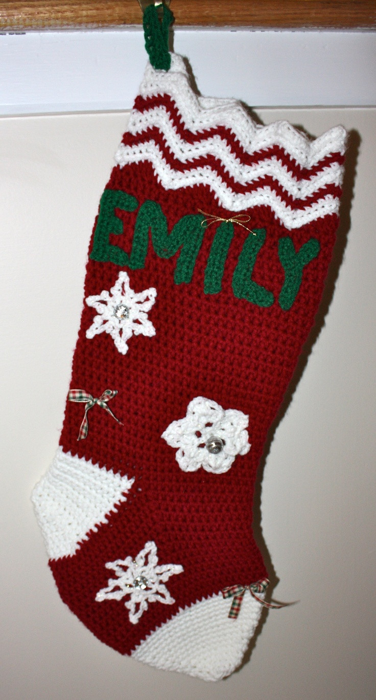 Crochet Stocking Elegant 21 Best Images About Xmas Stockings On Pinterest Of Unique 48 Models Crochet Stocking