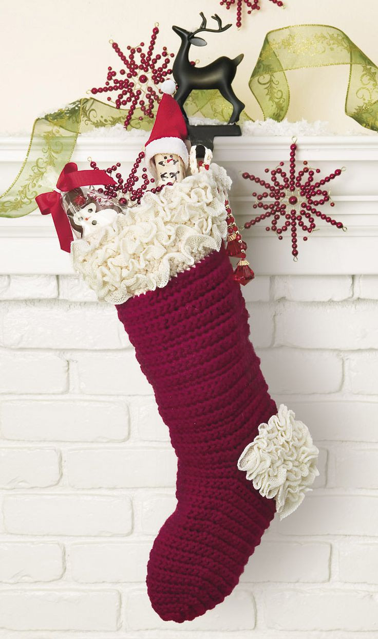 Crochet Stocking Luxury Crochet Christmas Stocking Of Unique 48 Models Crochet Stocking