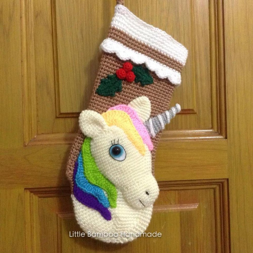 Crochet Stocking New Unicorn Christmas Stocking Crochet Pattern by Little Of Unique 48 Models Crochet Stocking