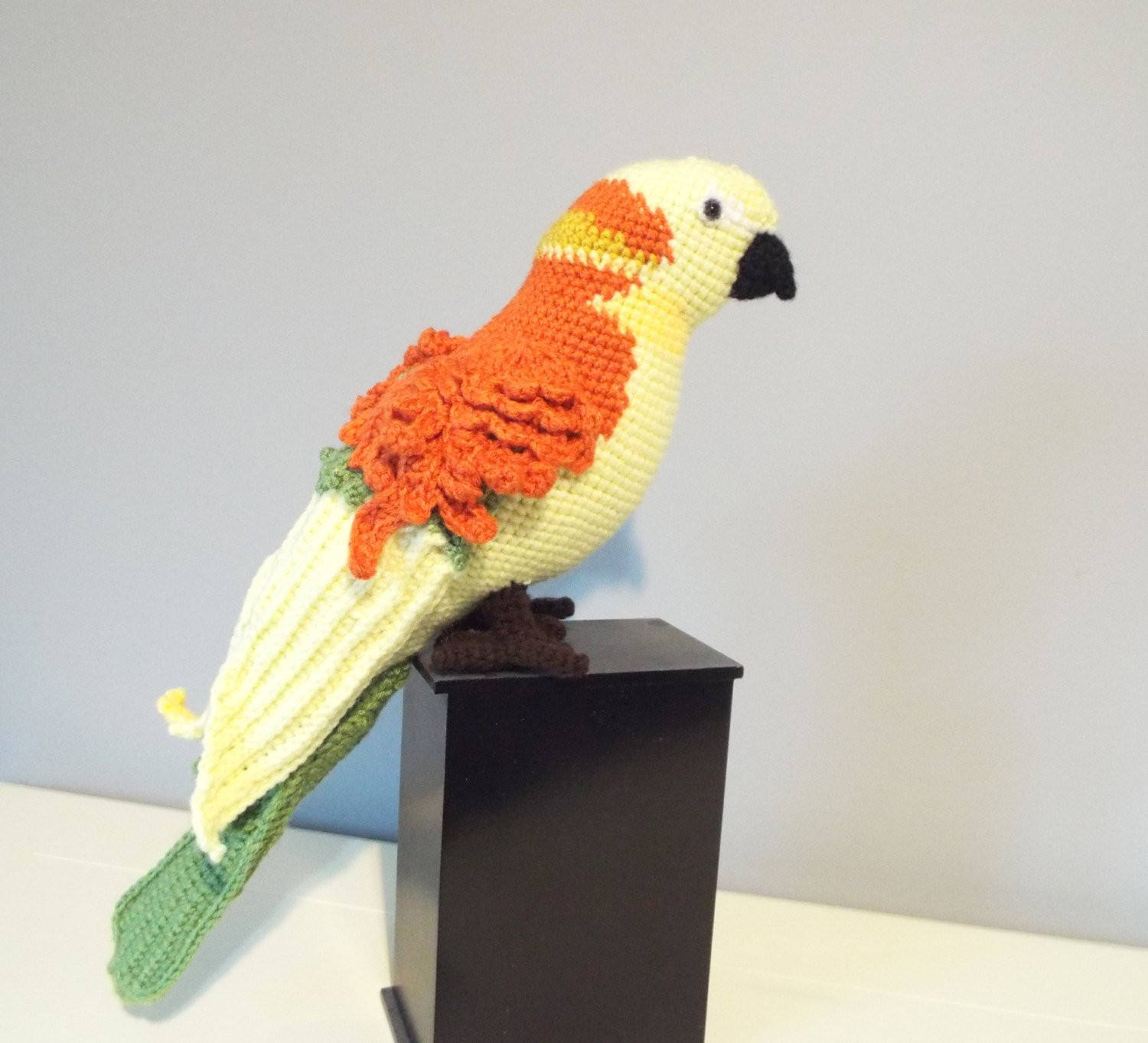 Crochet Stuffed Animals Awesome Crochet Parrot Sun Conure Stuffed Animals by Crochettoyscorner Of Incredible 42 Images Crochet Stuffed Animals