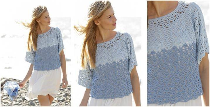 Crochet Summer top Pattern Best Of Aegean Crocheted Summer top [free Crochet Pattern] Of Wonderful 48 Models Crochet Summer top Pattern