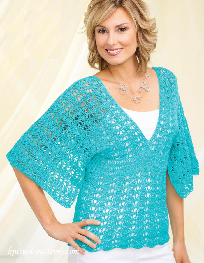 Women s top crochet pattern free