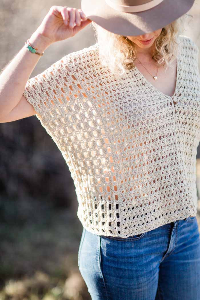 Crochet Summer top Pattern Lovely Poncho Style Summer Crochet top Free Pattern Make Of Wonderful 48 Models Crochet Summer top Pattern
