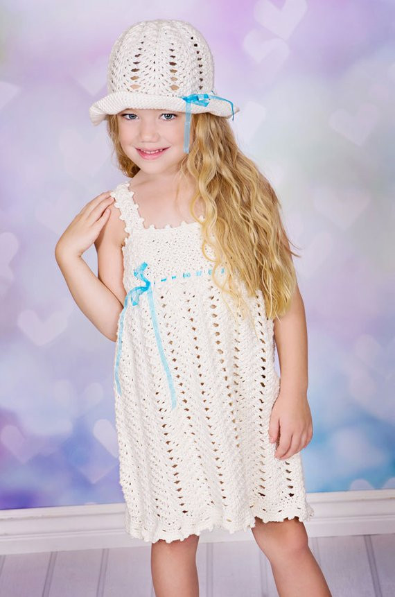 Crochet Sundress Awesome Wishes Crochet Pattern Sundress and Sunhat Sizes 12 Mos Of Gorgeous 43 Pictures Crochet Sundress