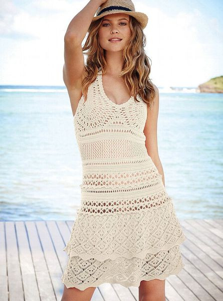 Crochet Sundress Lovely Victoria S Secret Crochet Sundress Ivory M In White Of Gorgeous 43 Pictures Crochet Sundress