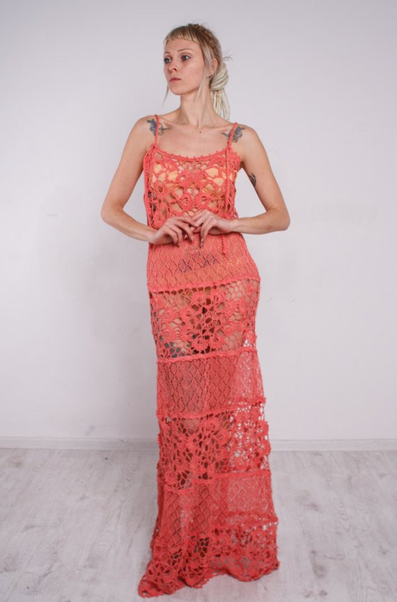 Crochet Sundress Luxury Crochet Dress Crochet Maxi Sundress Coral Crochet Lacy Of Gorgeous 43 Pictures Crochet Sundress