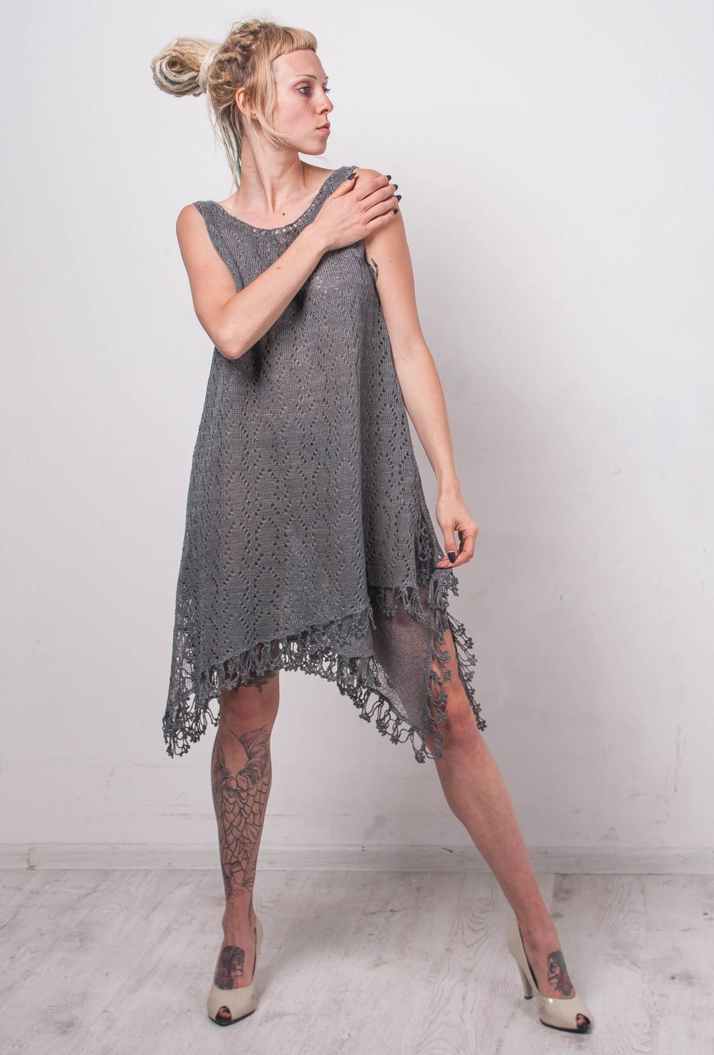 Crochet Sundress Luxury Crochet Linen Sundress Knit Grey Linen Tunic Crochet Lace Of Gorgeous 43 Pictures Crochet Sundress