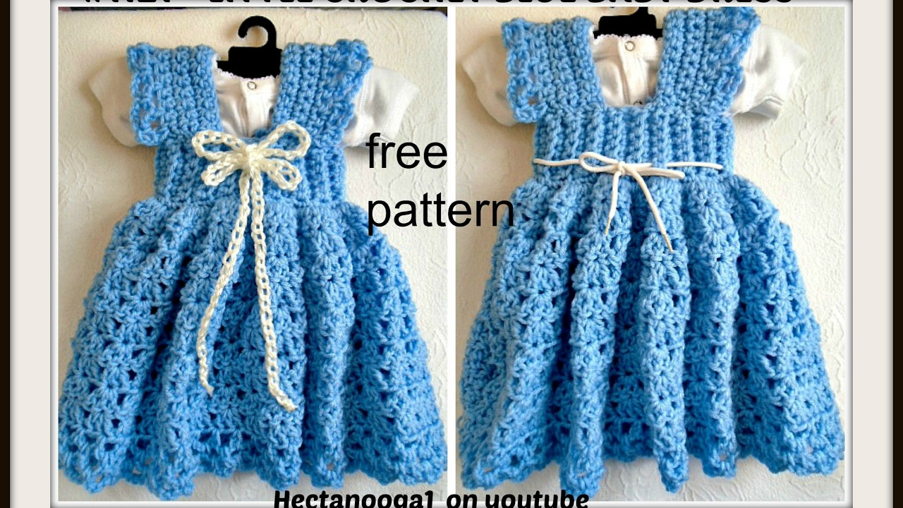 Crochet a Sundress or Jumper 3 to 6 months Free pattern
