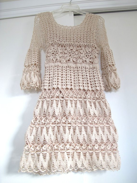 Crochet Sundress New Items Similar to Crochet Dress Lace Dress Crochet Of Gorgeous 43 Pictures Crochet Sundress