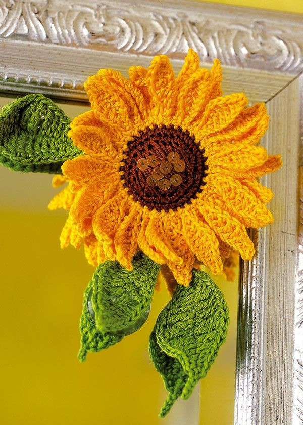 Crochet Sunflower Afghan Pattern Awesome 17 Best Images About Crochet Sunflowers On Pinterest Of Brilliant 50 Ideas Crochet Sunflower Afghan Pattern