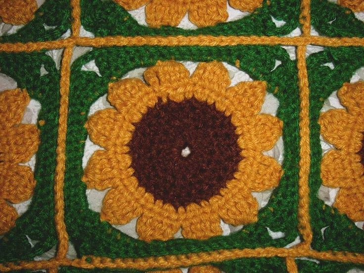 Crochet Sunflower Afghan Pattern Awesome Free Crochet Pattern Sunflower Afghan Dancox for Of Brilliant 50 Ideas Crochet Sunflower Afghan Pattern