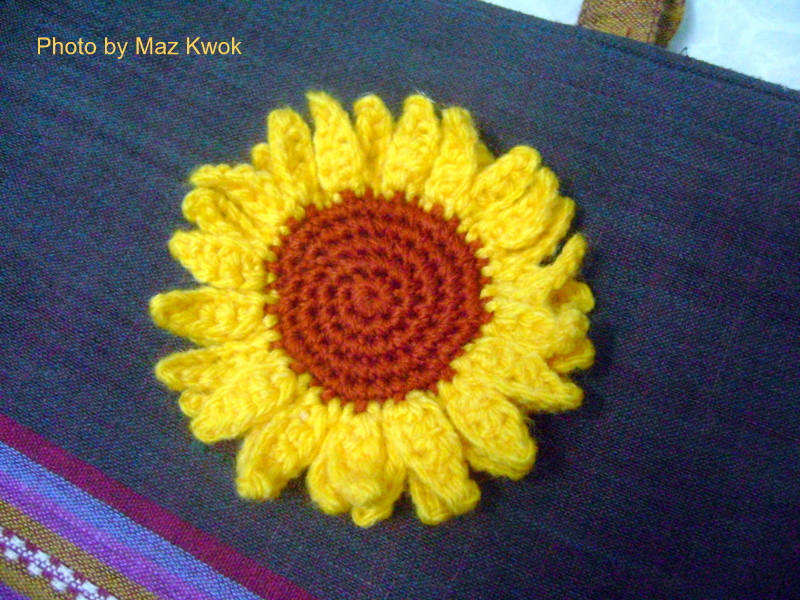 Crochet Sunflower Afghan Pattern Awesome Sunflower Applique Of Brilliant 50 Ideas Crochet Sunflower Afghan Pattern