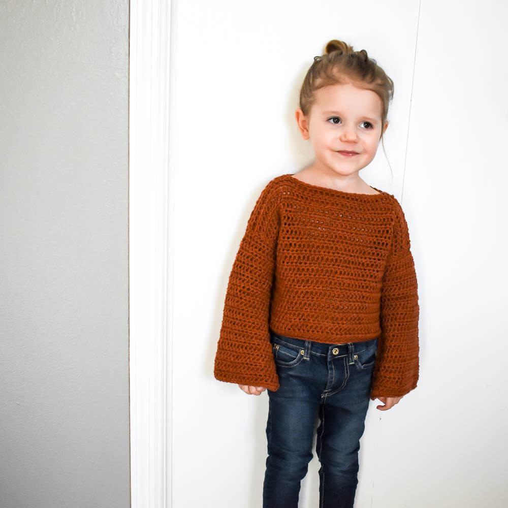How To Make A Simple Modern Crochet Toddler Sweater