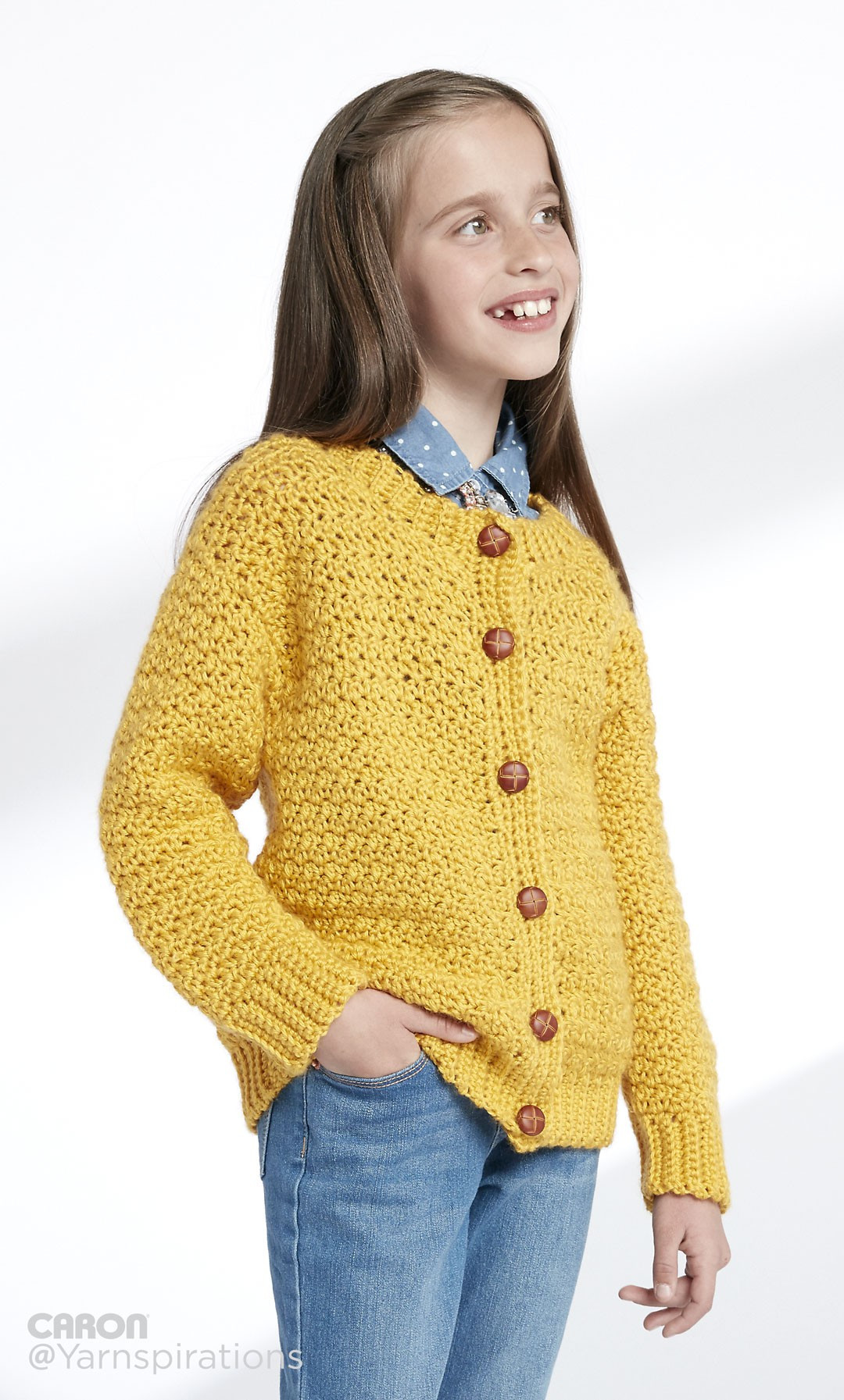 Crochet Sweater Pattern Free Beautiful Caron Child S Crochet Crew Neck Cardigan Crochet Pattern Of Unique 50 Images Crochet Sweater Pattern Free