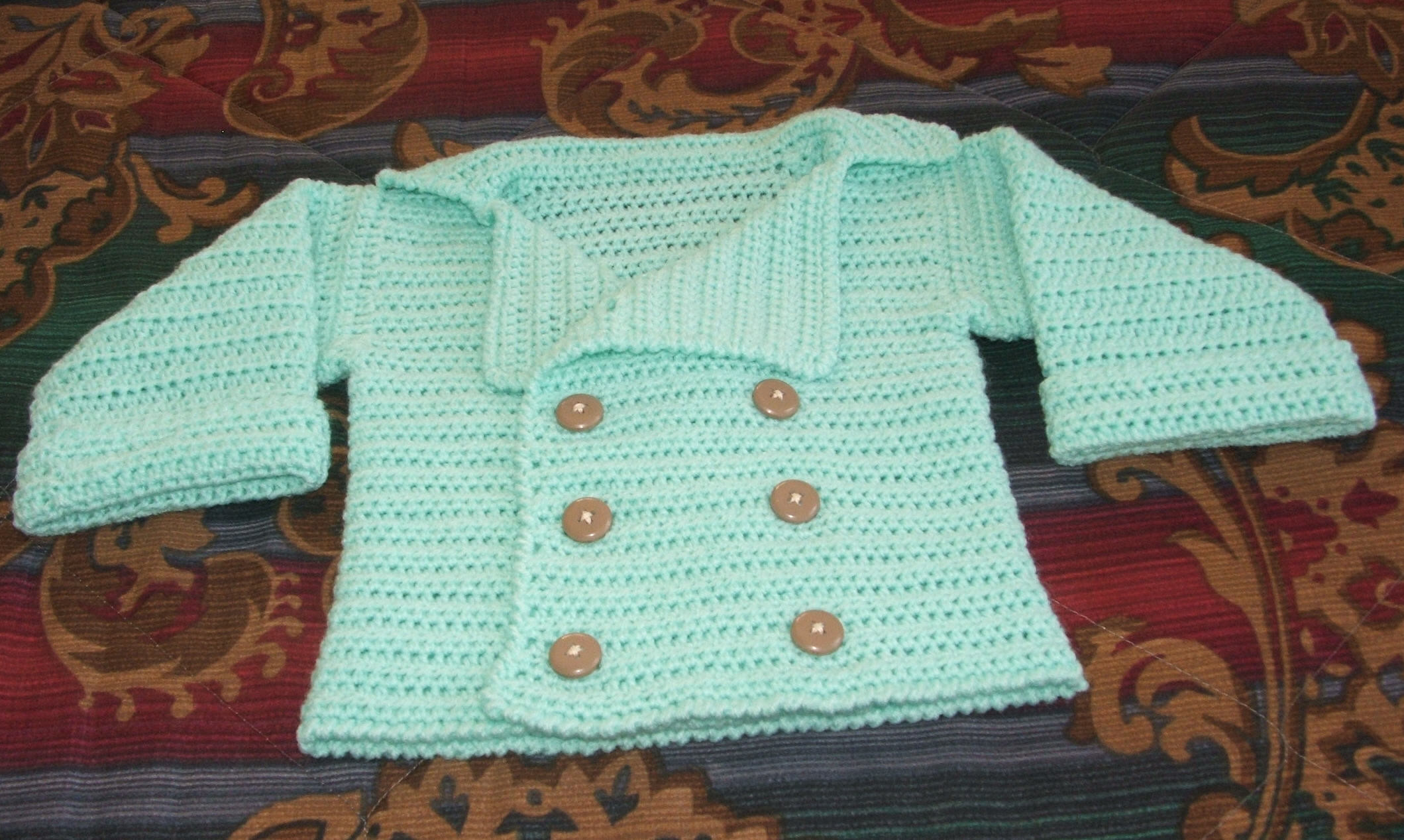 Crochet Sweater Pattern Free Unique Infant's Double Breasted Sweater Free Crochet Pattern Of Unique 50 Images Crochet Sweater Pattern Free