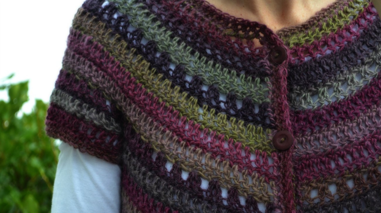 Top down crochet cardigan – The Green Dragonfly