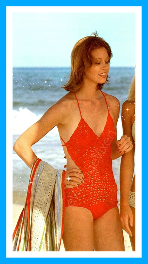 Crochet Swim Suit Inspirational Swimsuit Crochet Pattern Crochet Vintage 1970s Red by Of Marvelous 44 Models Crochet Swim Suit