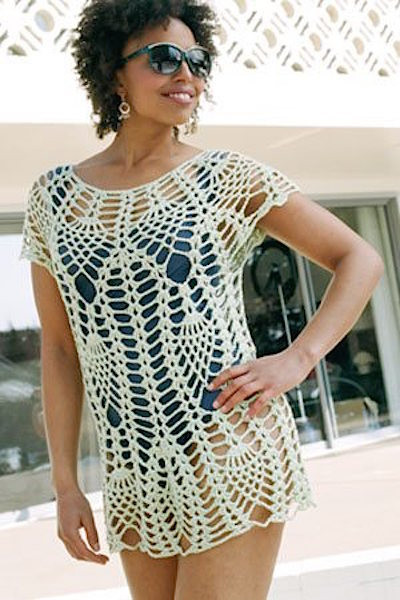 Crochet Swim top Best Of Barely there Crocheted Swimsuit Cover Ups Craftfoxes Of Attractive 46 Models Crochet Swim top
