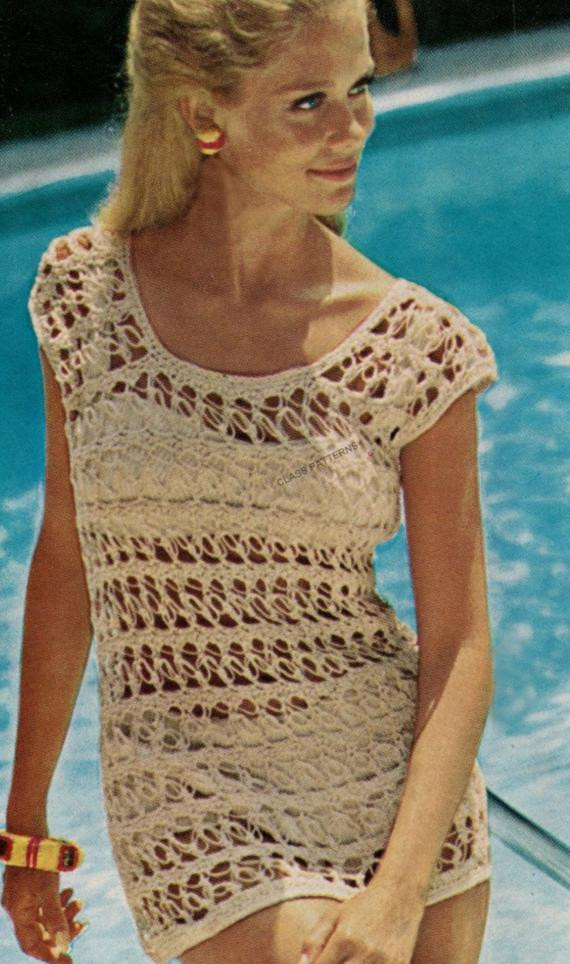 Crochet Swimsuit Cover Up Pattern Awesome Items Similar to Crochet Pattern Bikini Cover Up Pattern Of Perfect 49 Photos Crochet Swimsuit Cover Up Pattern