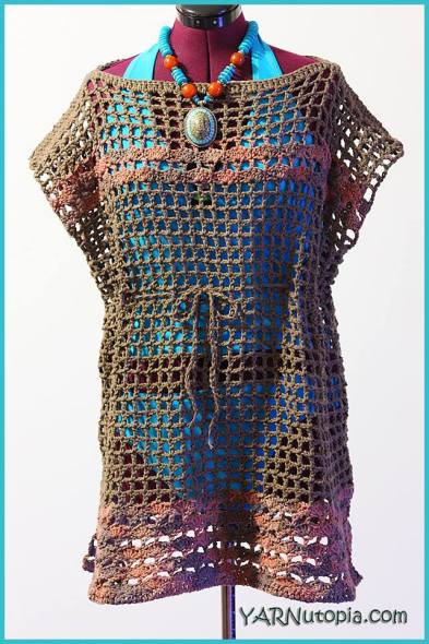 Crochet Tutorial Beach Swimsuit Cover Up YARNutopia by
