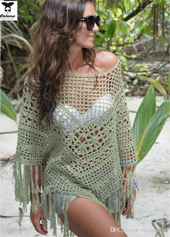 NEW Summer y Crochet Beach Cover Up Womens Bathing