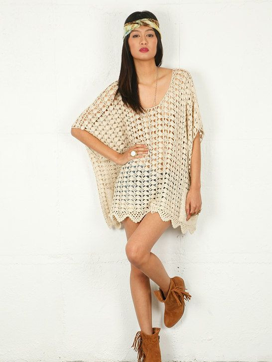 CROCHET Beach Cover Up PATTERN Crochet Top Pattern