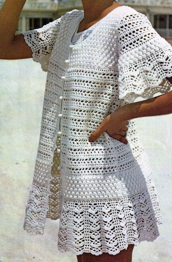 crochet tunic pattern white summer