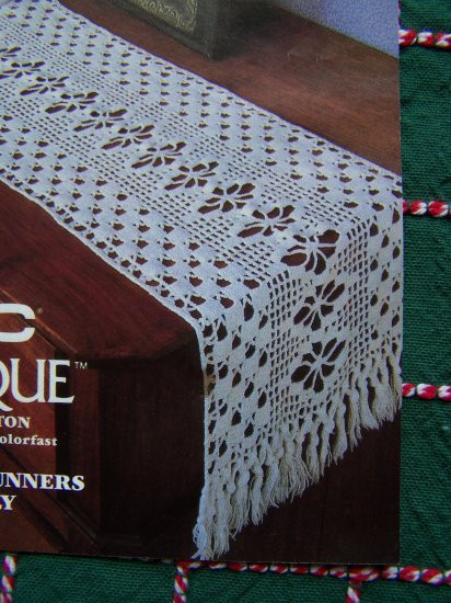 Crochet Table Runner Patterns Beautiful 1 Cent Usa S&h Filet Crochet Cotton Thread Pattern 2 Table Of Amazing 45 Pics Crochet Table Runner Patterns