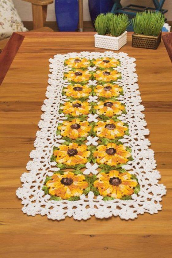 Crochet Table Runner Patterns Fresh Free Crochet Table Runner Pattern Yellow Flowers Of Amazing 45 Pics Crochet Table Runner Patterns