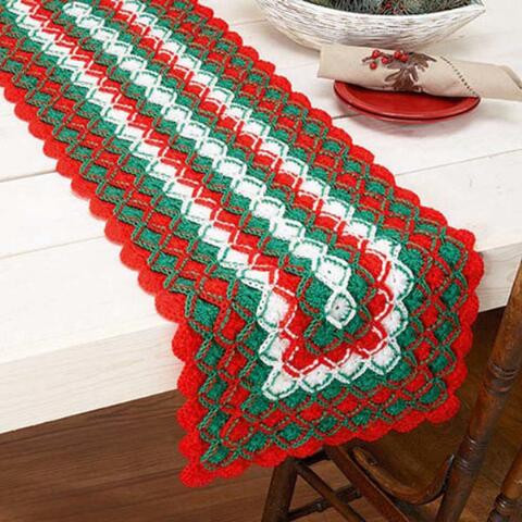 Crochet Table Runner Patterns Fresh Herrschners Holiday Cheer Table Runner Crochet Yarn Kit Of Amazing 45 Pics Crochet Table Runner Patterns