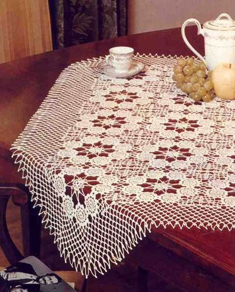 Free Patterns of the Crochet Table Runner Flowers