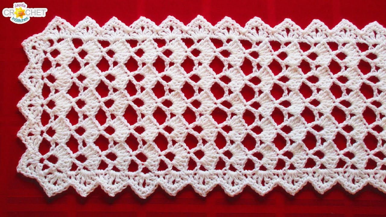 Crochet Table Runner Patterns Luxury Festive Table Runner Crochet Pattern Looks Fancy Easy Of Amazing 45 Pics Crochet Table Runner Patterns
